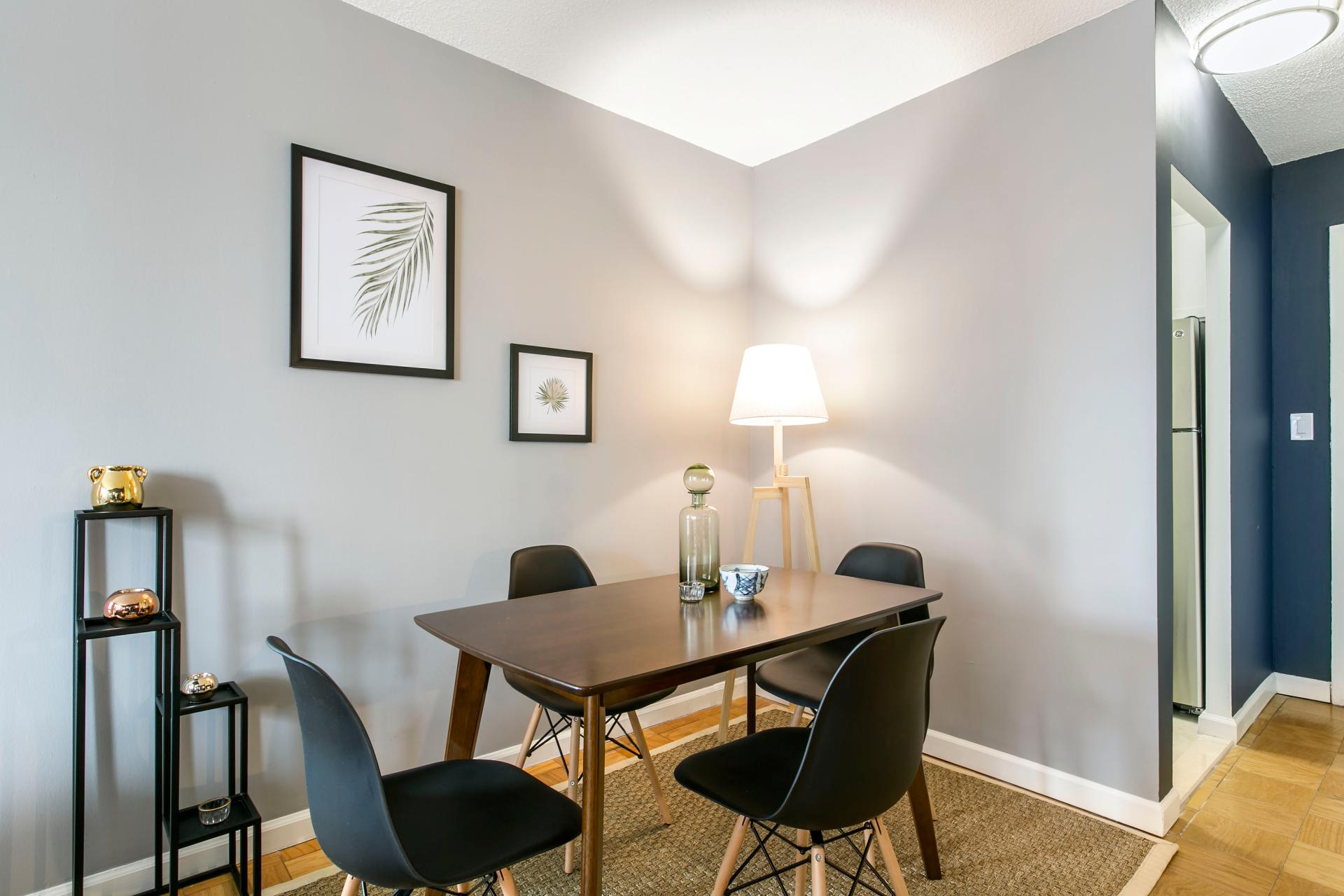 Dining table at East 40th Apartment