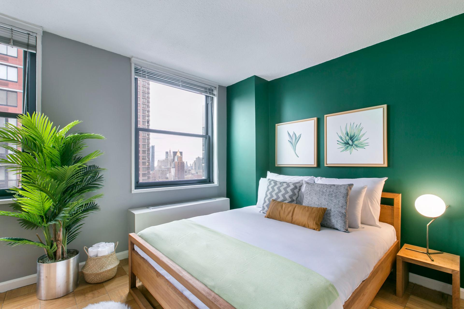 Bedroom at East 40th Apartment