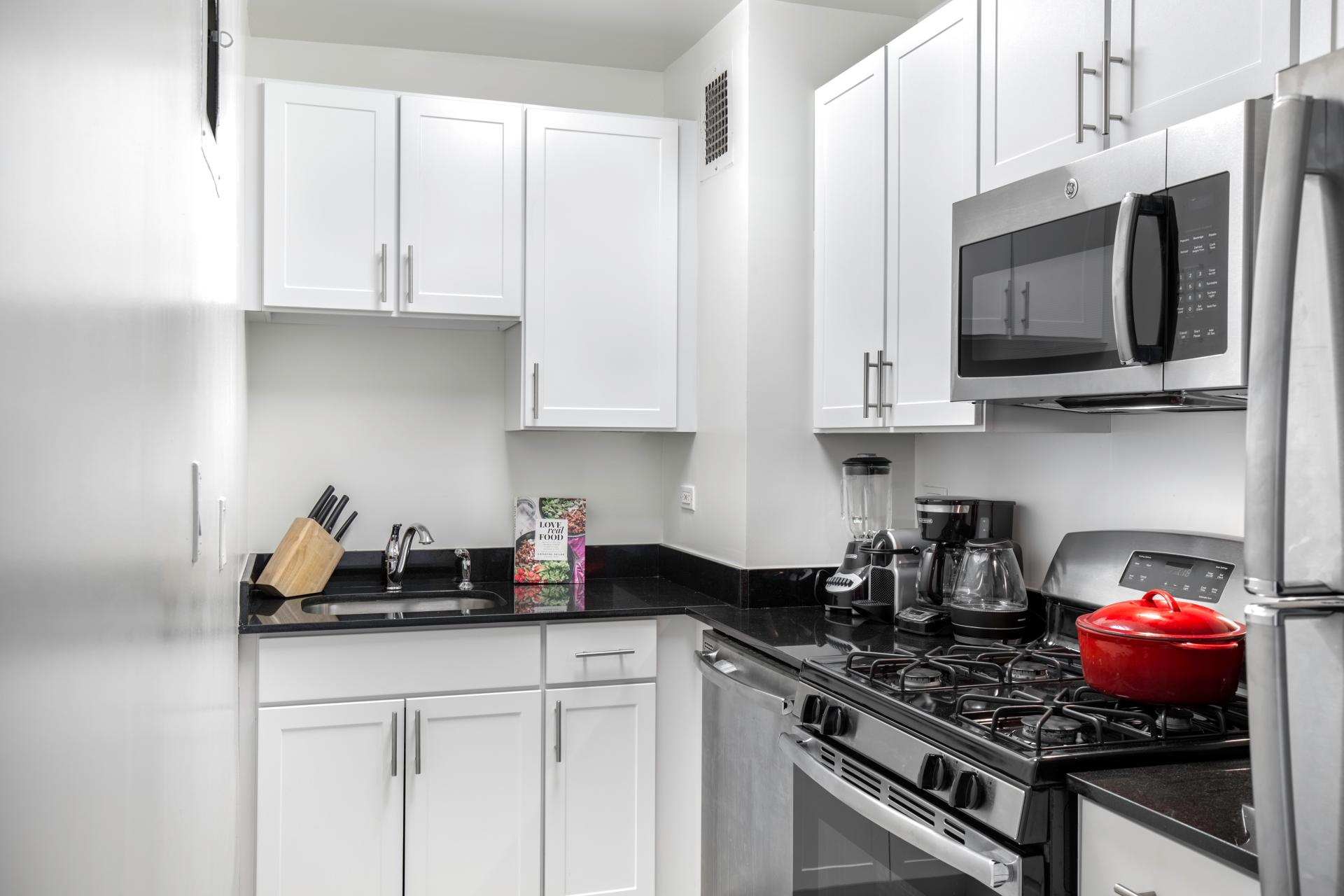 Kitchen at East 40th Apartment