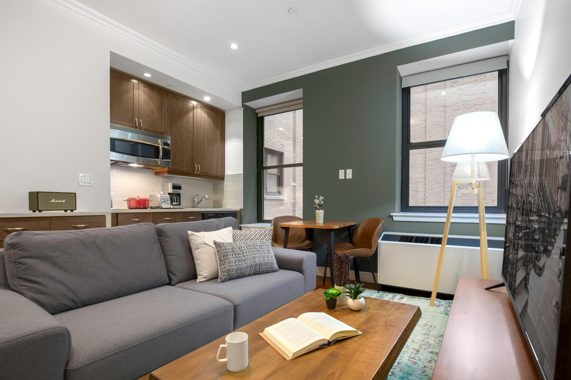 Sofa at Seven Apartment