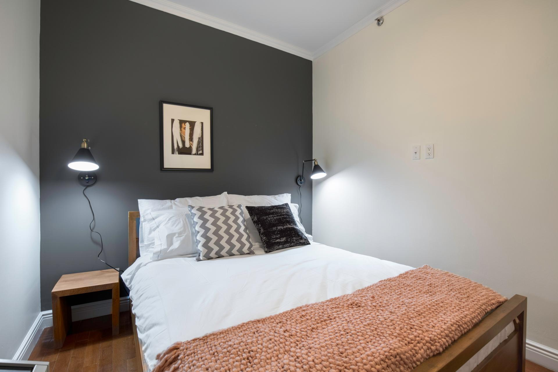 Stylish bedroom at Seven Apartment