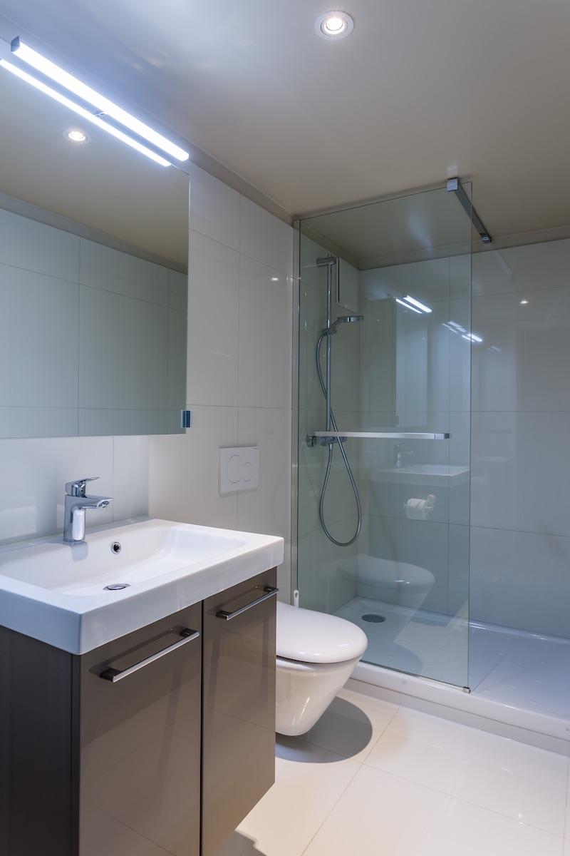 Bathroom at Grand Rue Apartments