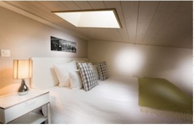 Bedroom on Mezzanine level at Grand Rue Apartments, Centre, Morges