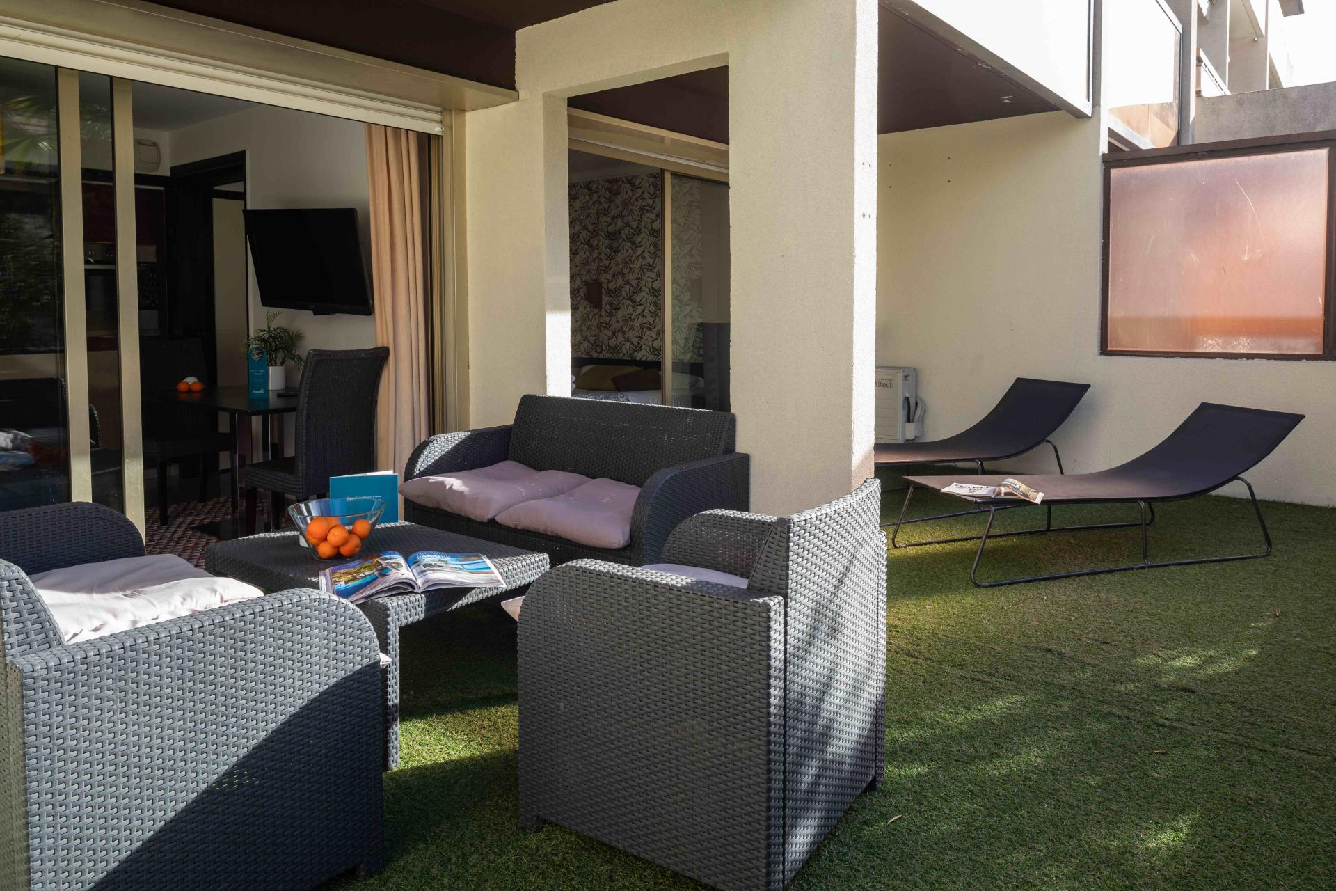 Terrace at Avenue Alexandre Apartments, Juan-les-Pins, Antibes