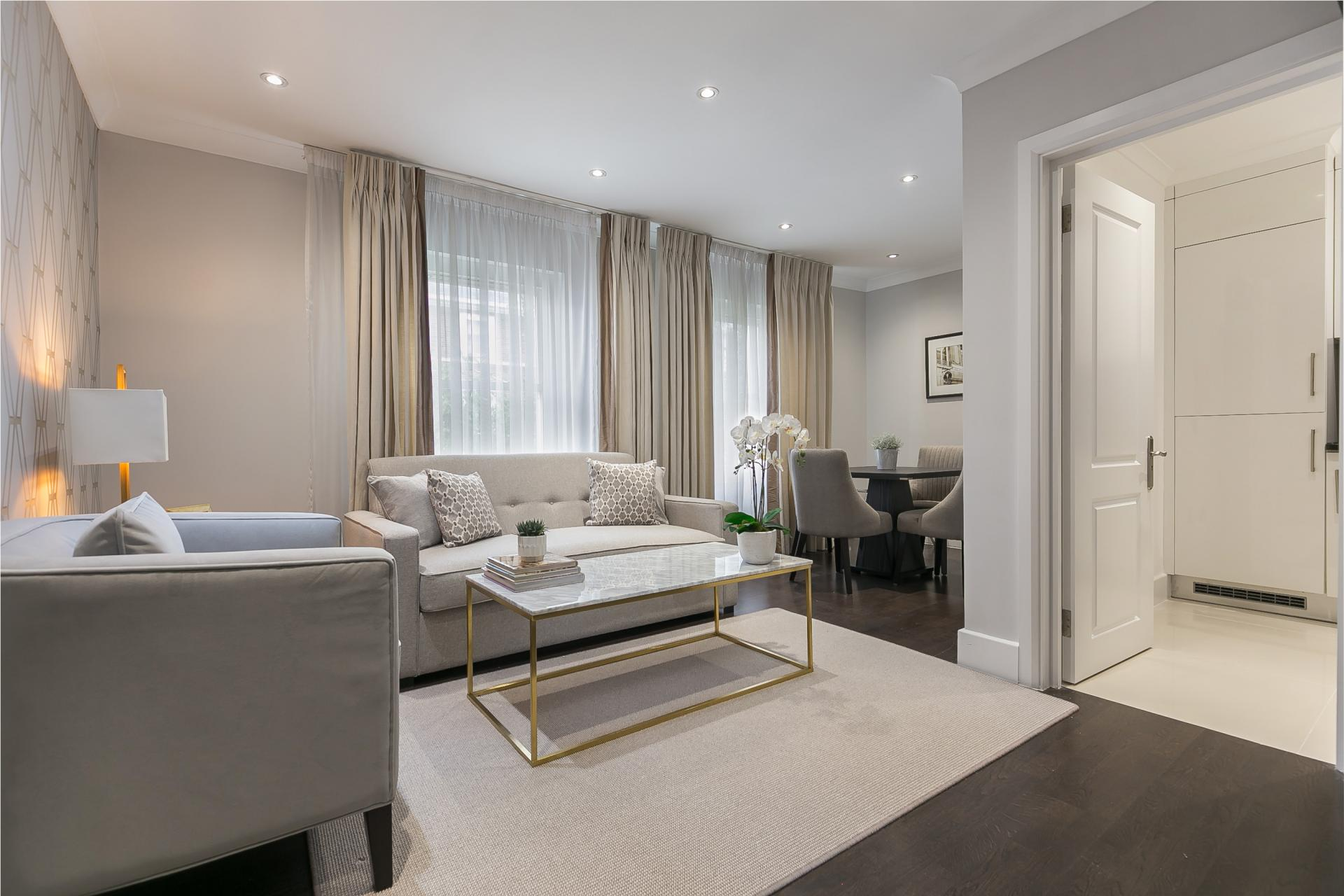 Living area at Chilworth Court Serviced Apartments, Paddington, London