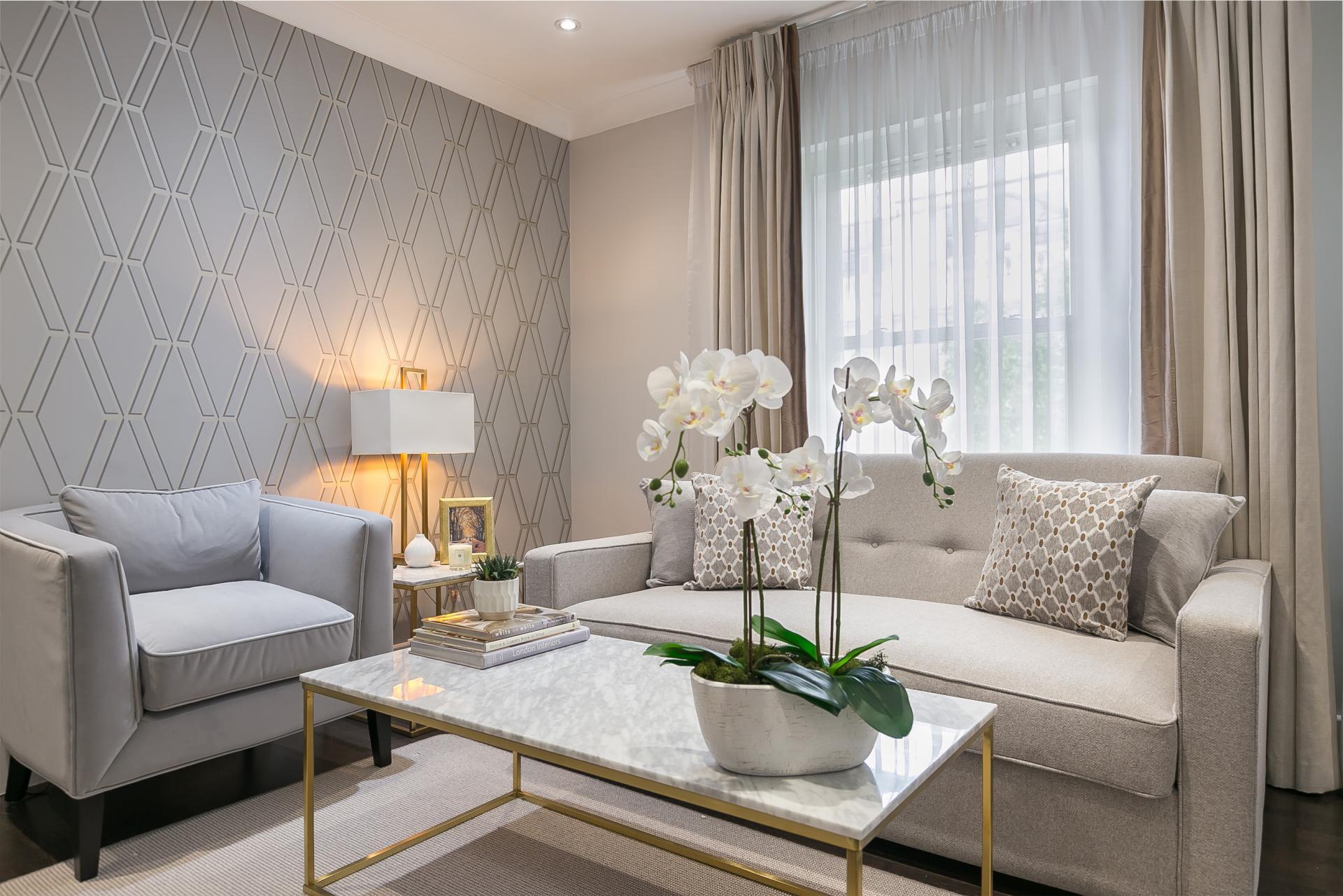 Sofas at Chilworth Court Serviced Apartments, Paddington, London