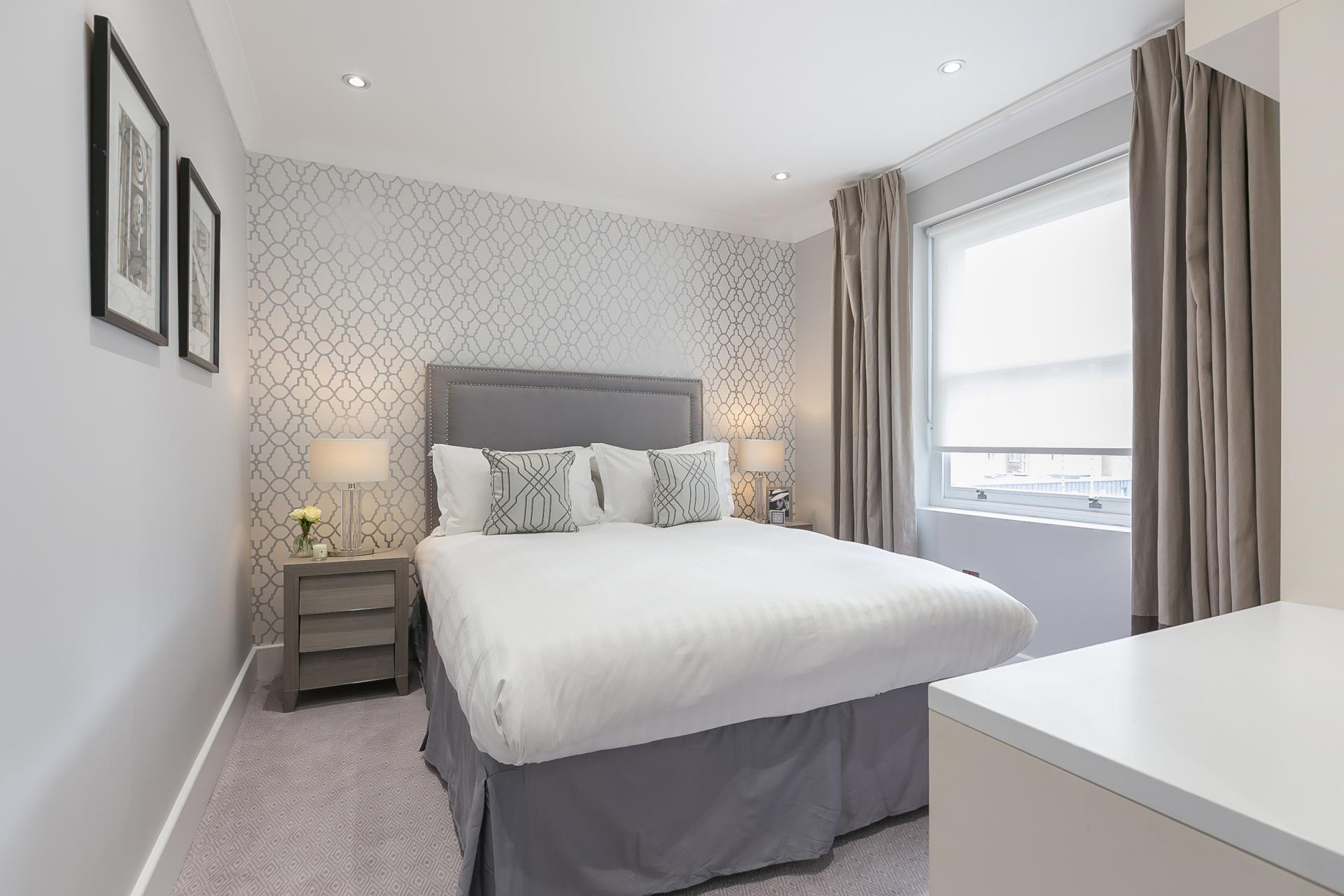 Bed at Chilworth Court Serviced Apartments, Paddington, London