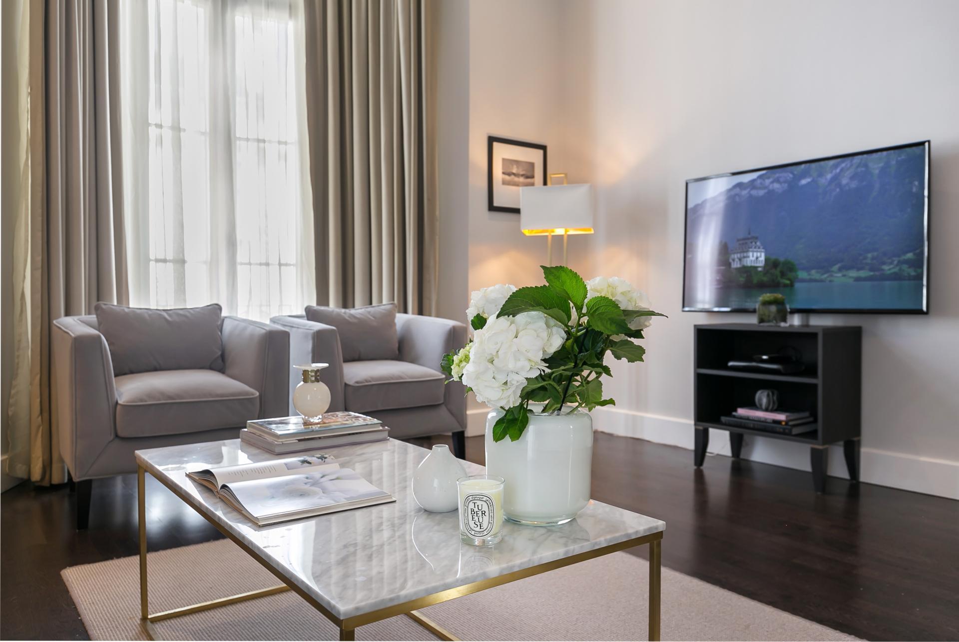 TV at Chilworth Court Serviced Apartments, Paddington, London