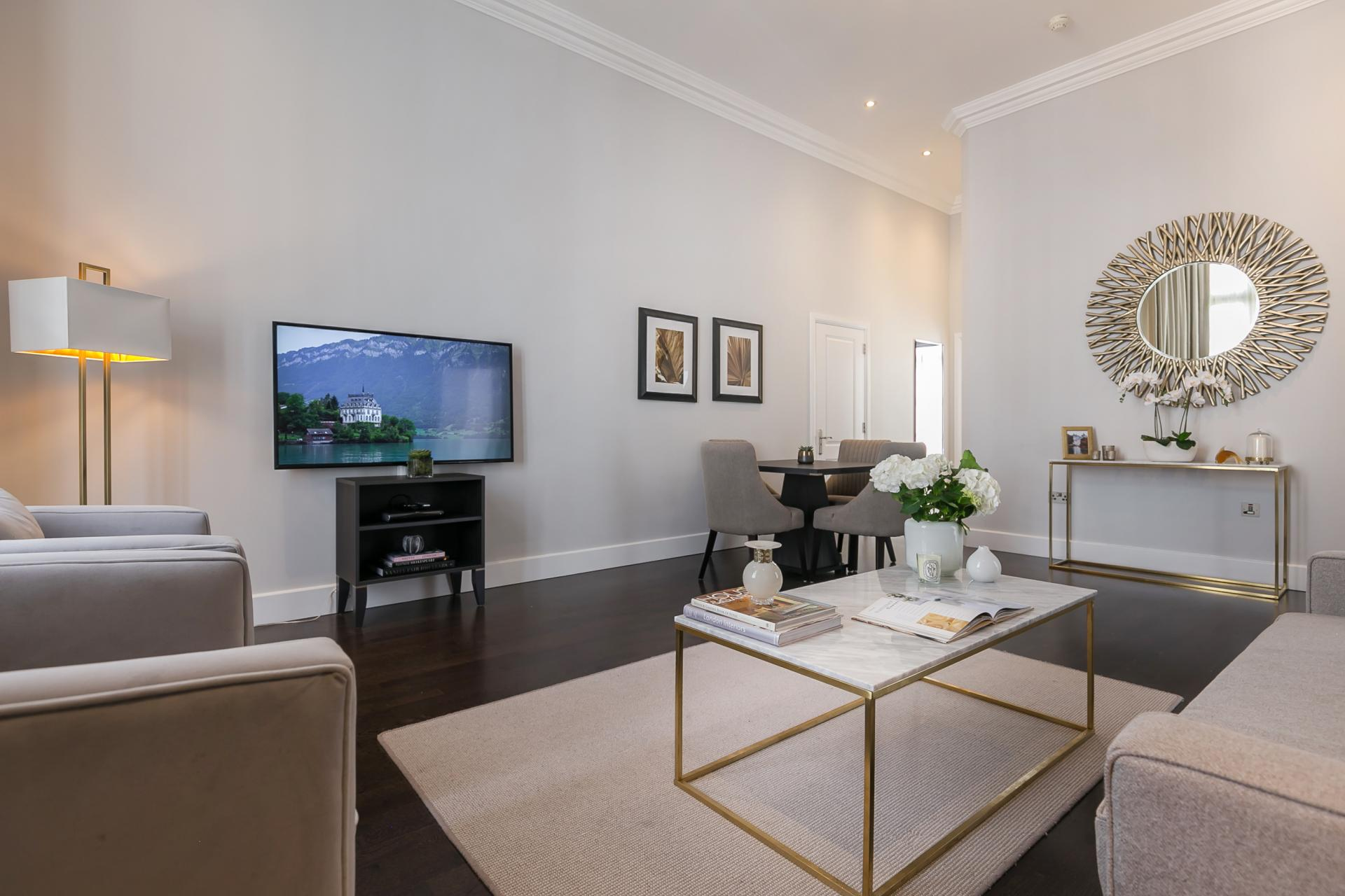 Coffee table at Chilworth Court Serviced Apartments, Paddington, London
