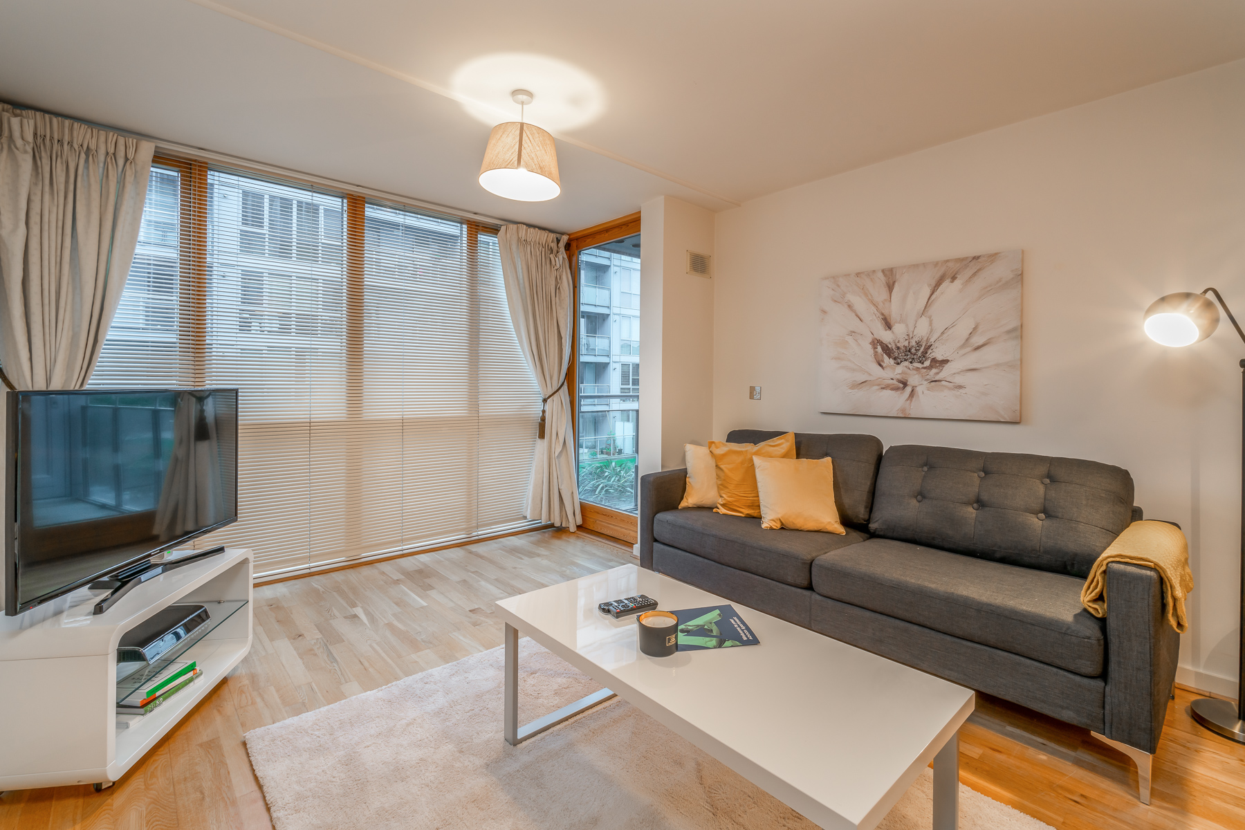 Living area at The Gasworks Adoor Apartments