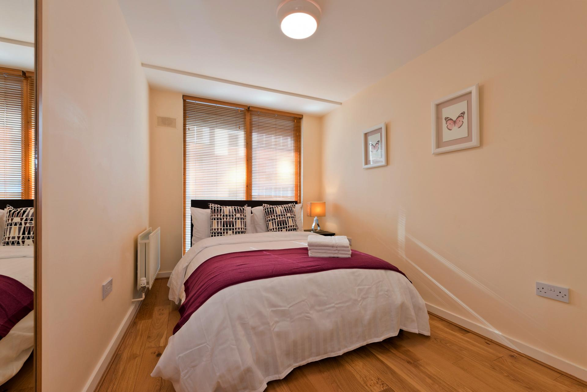 Double bed at The Gasworks Adoor Apartments