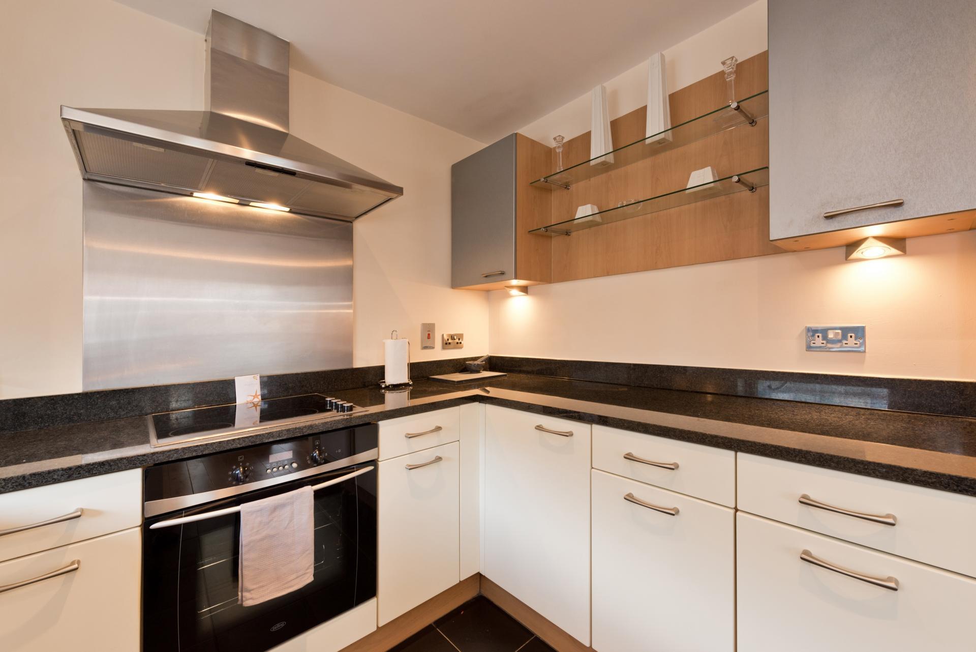 Kitchen at The Gasworks Adoor Apartments