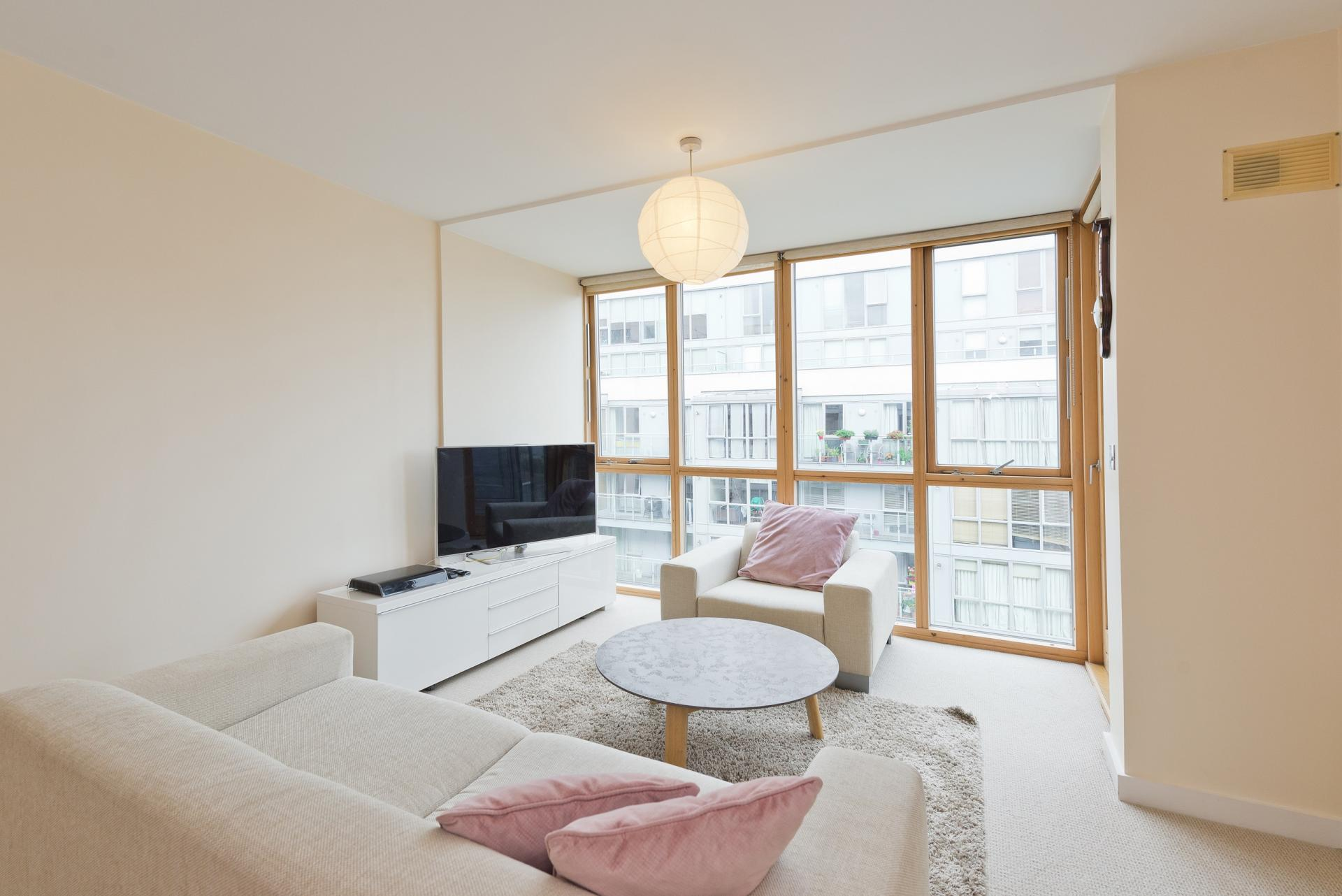 Bright living area at The Gasworks Adoor Apartments