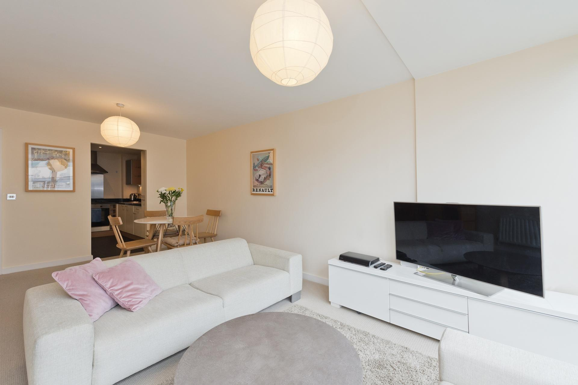 Open-plan living area at The Gasworks Adoor Apartments