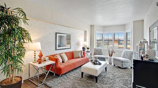 Living room at SOMA at 788 Apartment