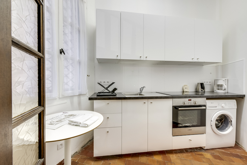 Kitchen at Rue Saint-Honore Apartment