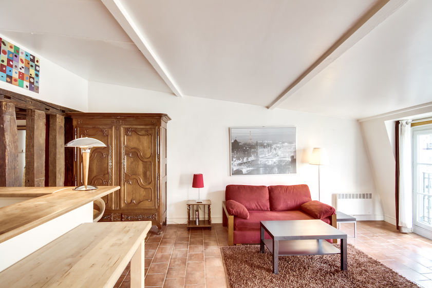 Seating area at Rue Du Grenier Apartment