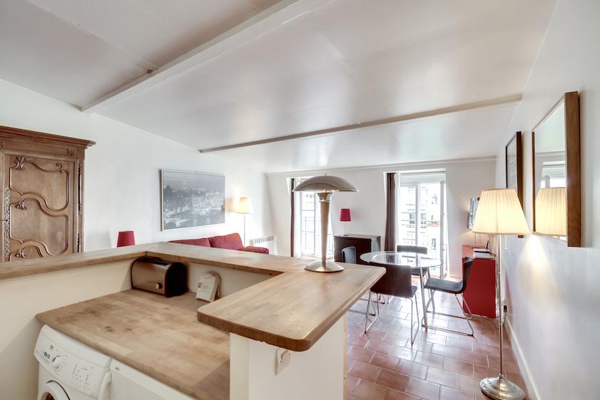 Kitchen area at Rue Du Grenier Apartment