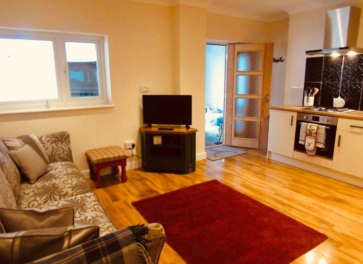 Living room at The Apartments at Yarm Road