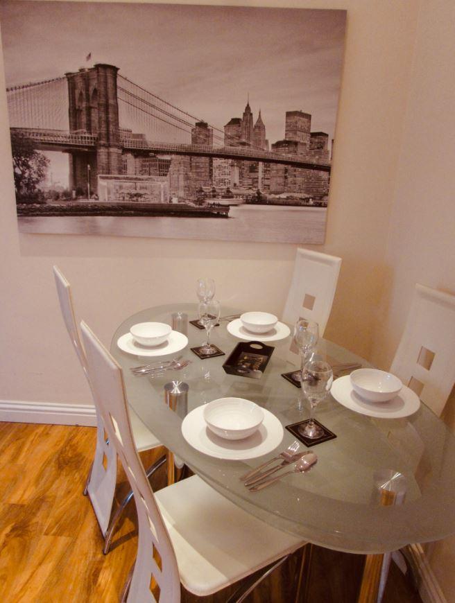 Dining table at The Apartments at Yarm Road