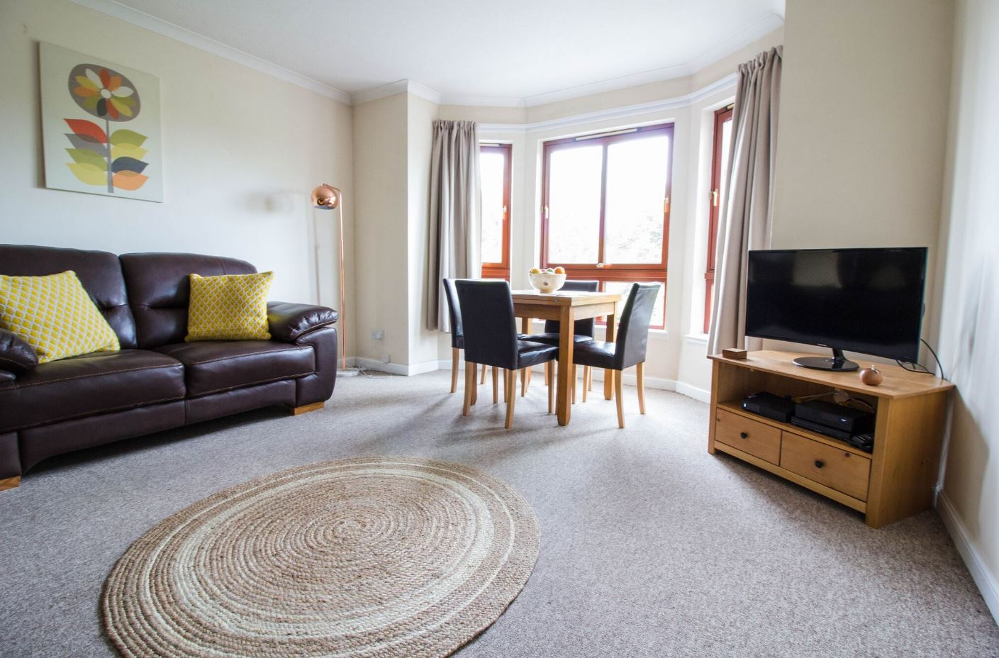 Living room at South Groathill Serviced Apartment