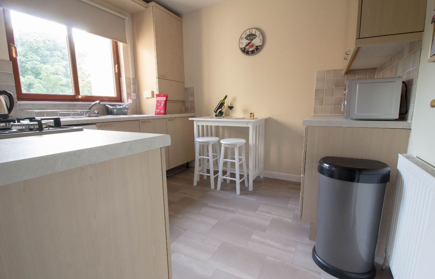Kitchen area at South Groathill Serviced Apartment