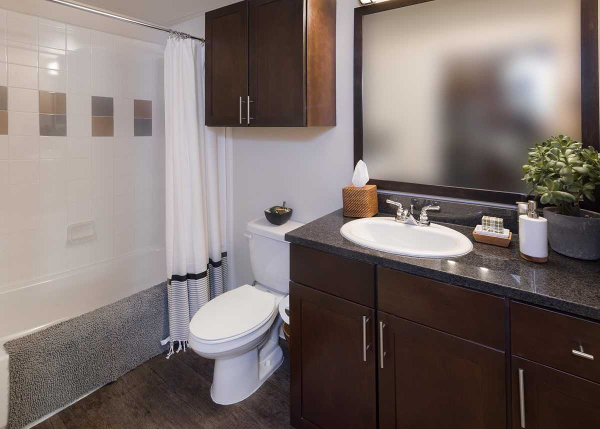 Bathroom at IMT at the Domain Apartment