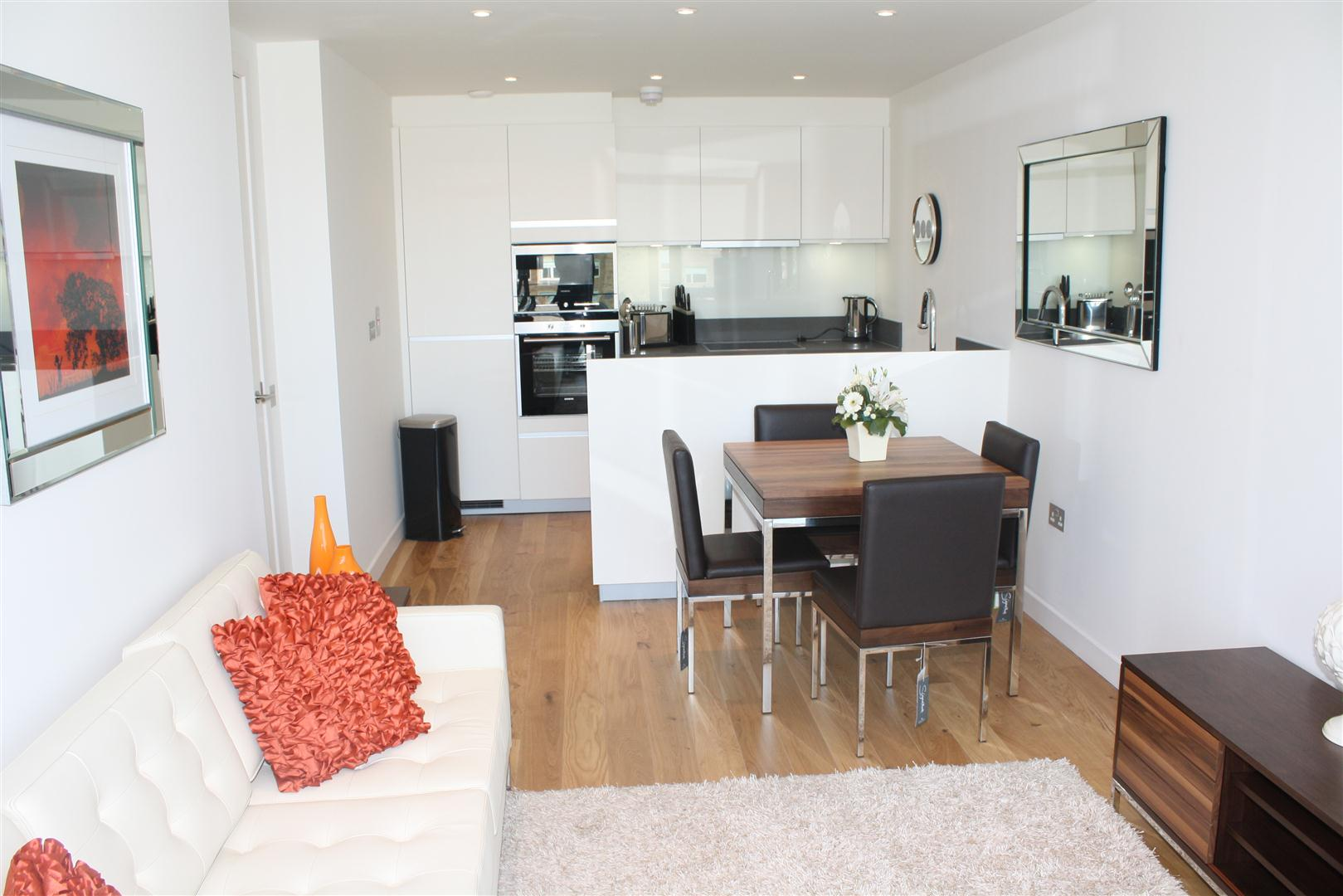 Living/dining at Simpson Loan Apartments