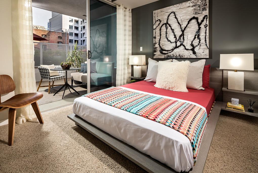 Bedroom at Avant Apartments