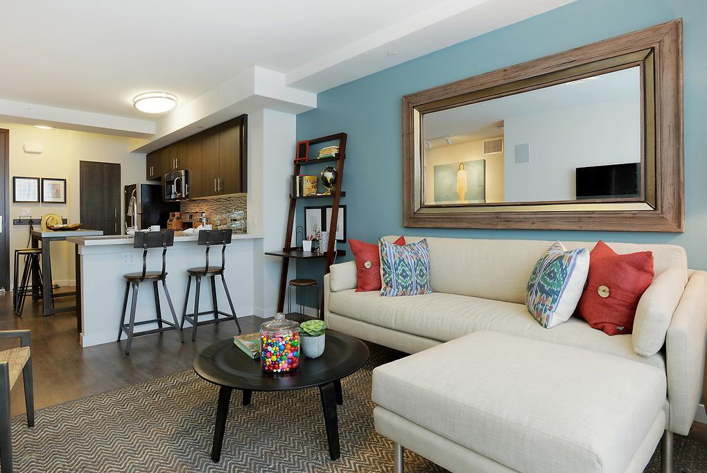 Living area at Avant Apartments