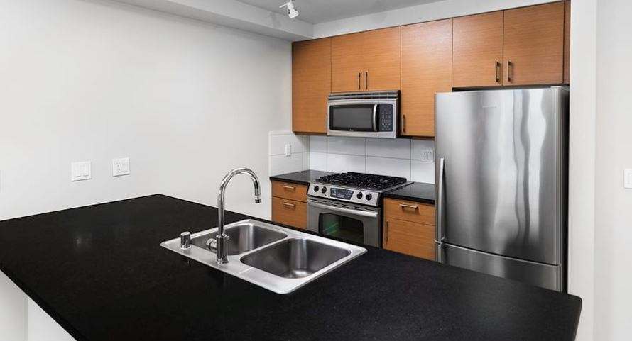 Kitchen at Axis Apartment
