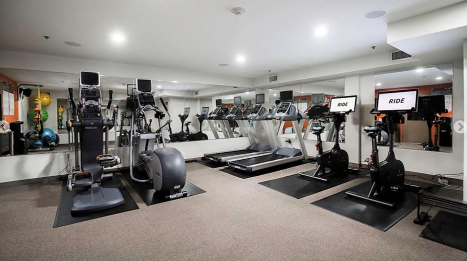 Gym at Axis Apartment