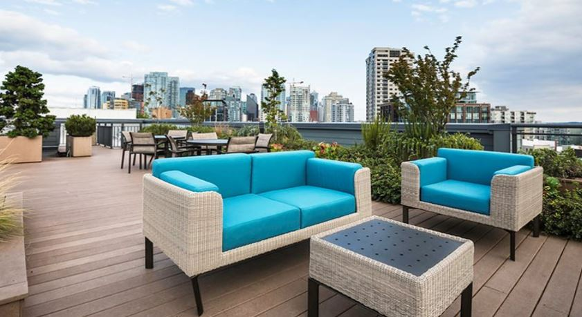Roof deck at Axis Apartment