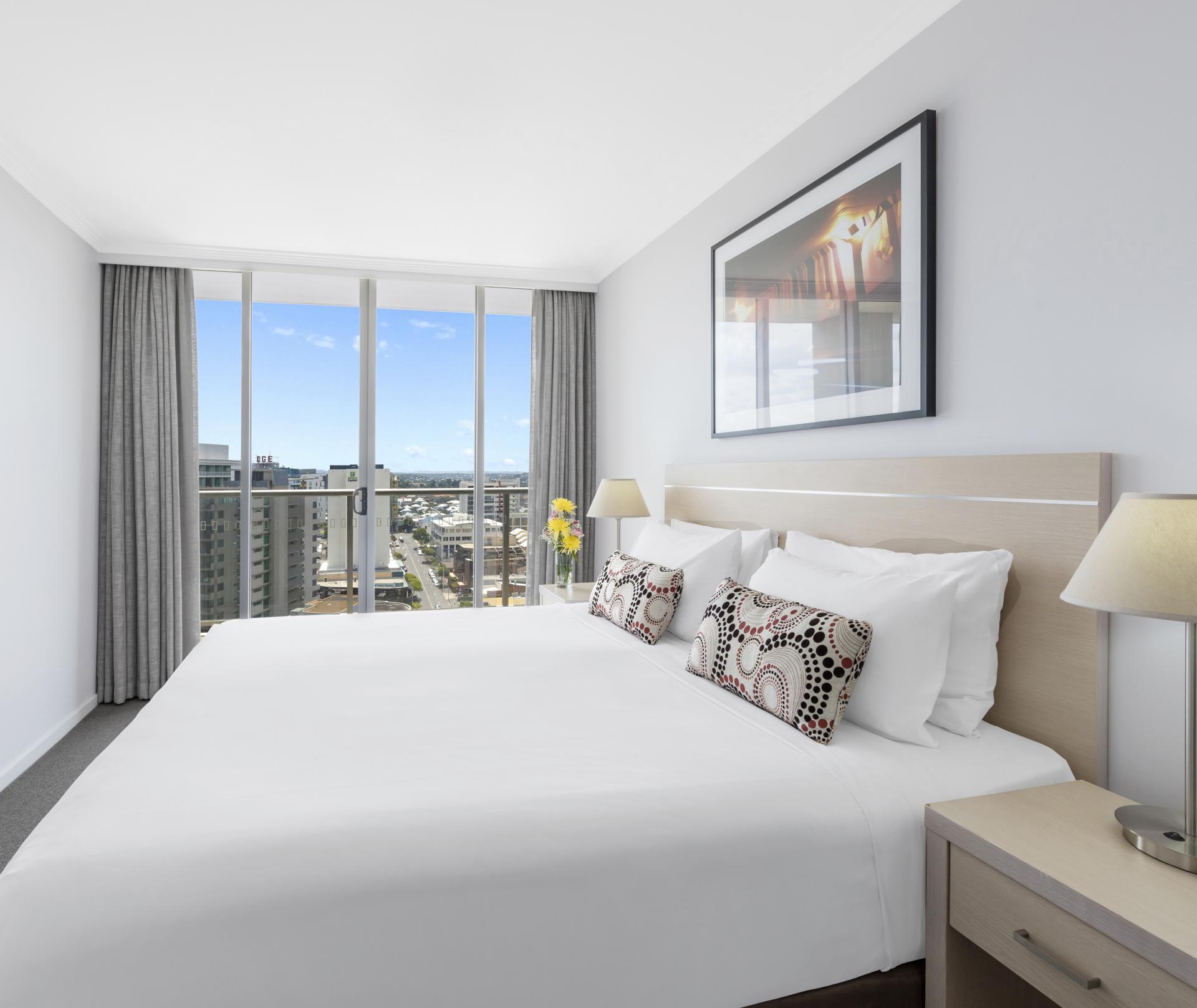 Bedroom at Oaks Brisbane Lexicon Suites