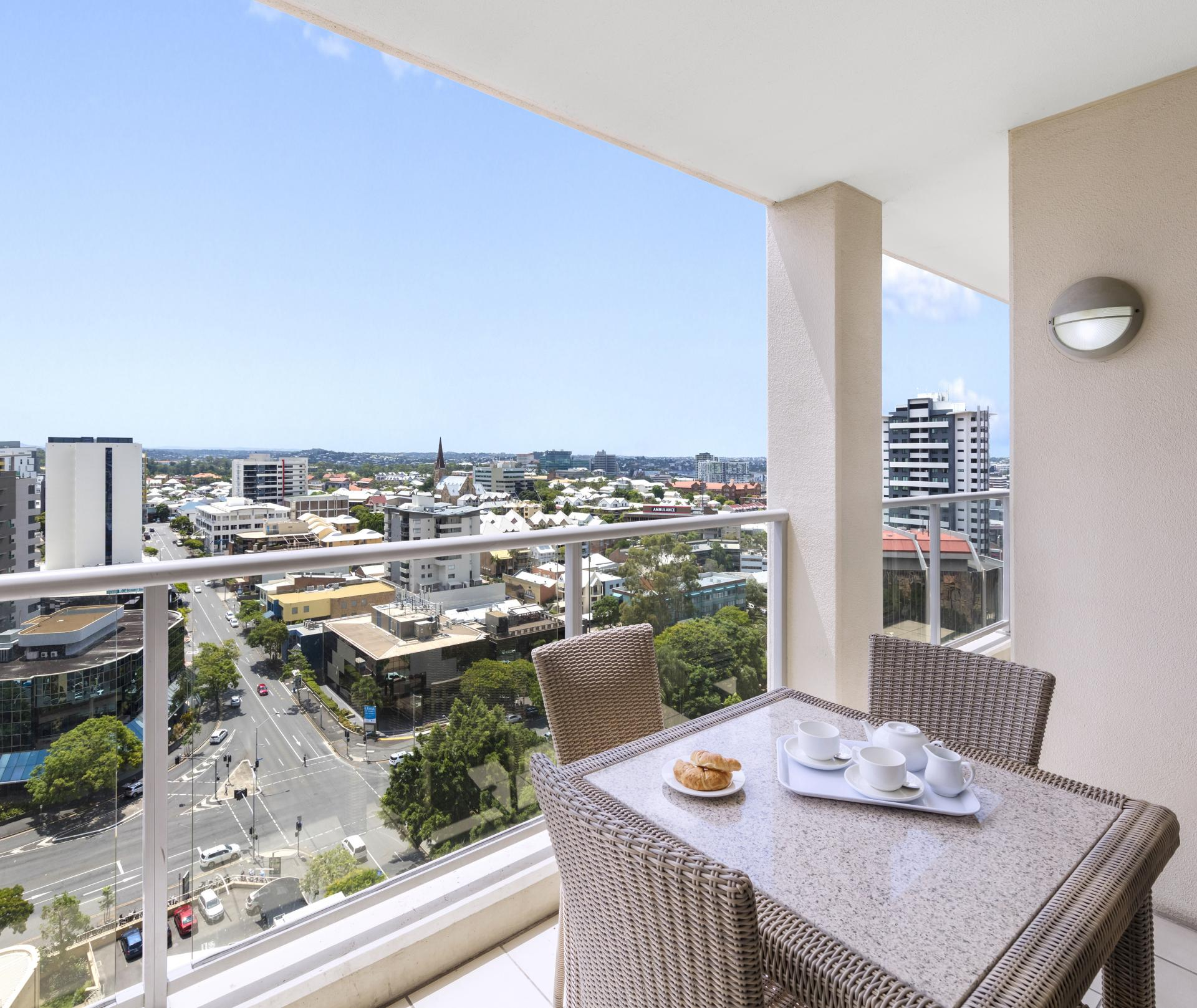 Balcony at Oaks Brisbane Lexicon Suites