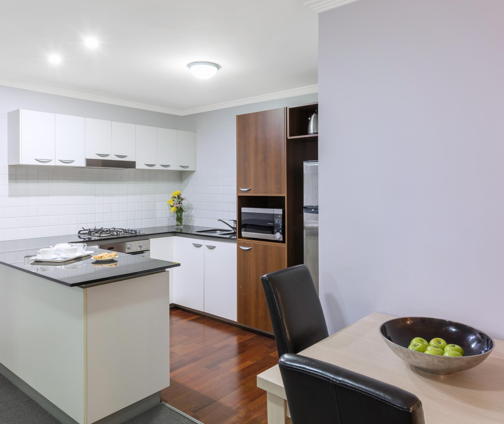 Dining area at Oaks Brisbane Lexicon Suites