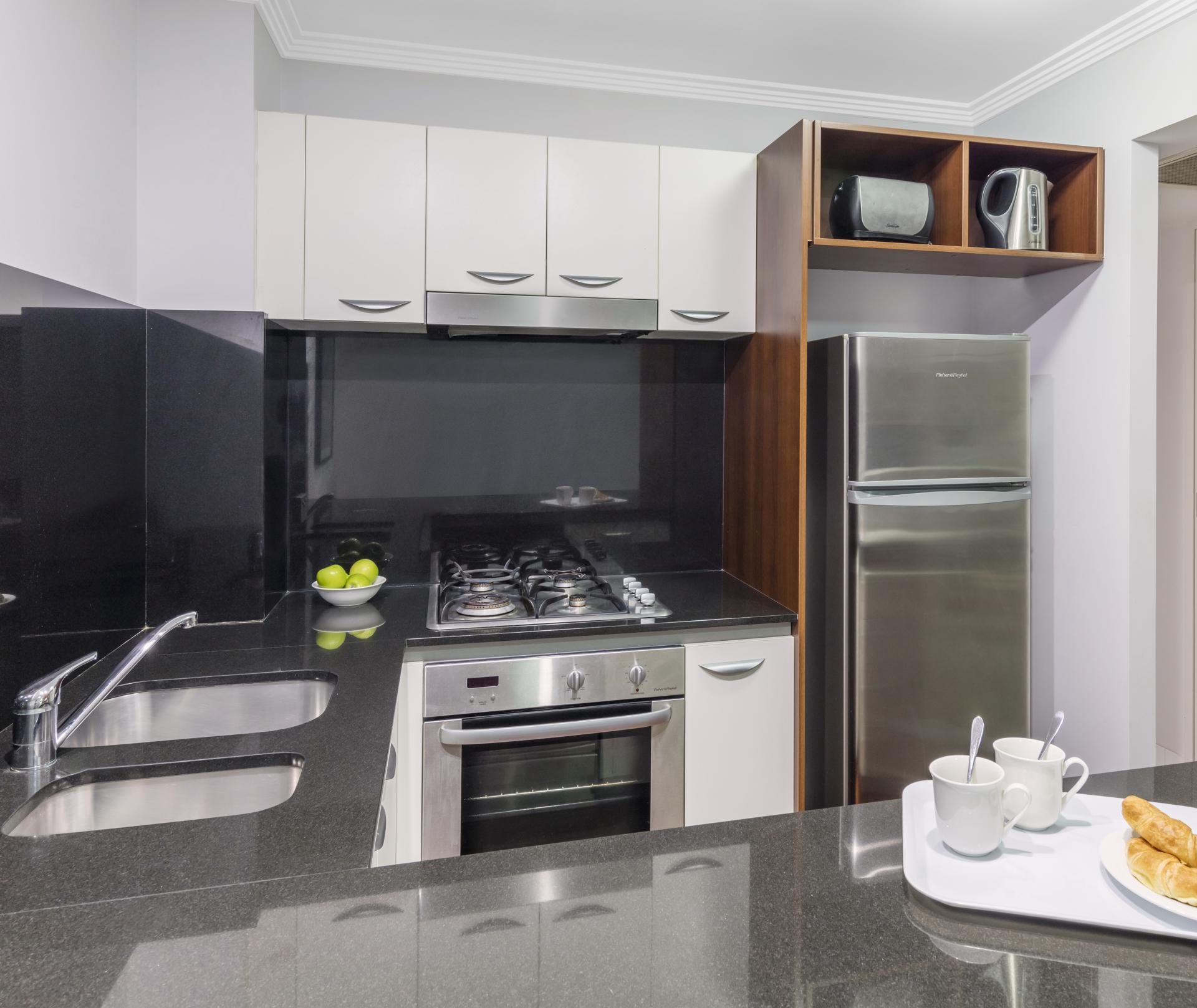 Kitchen at Oaks Brisbane Lexicon Suites