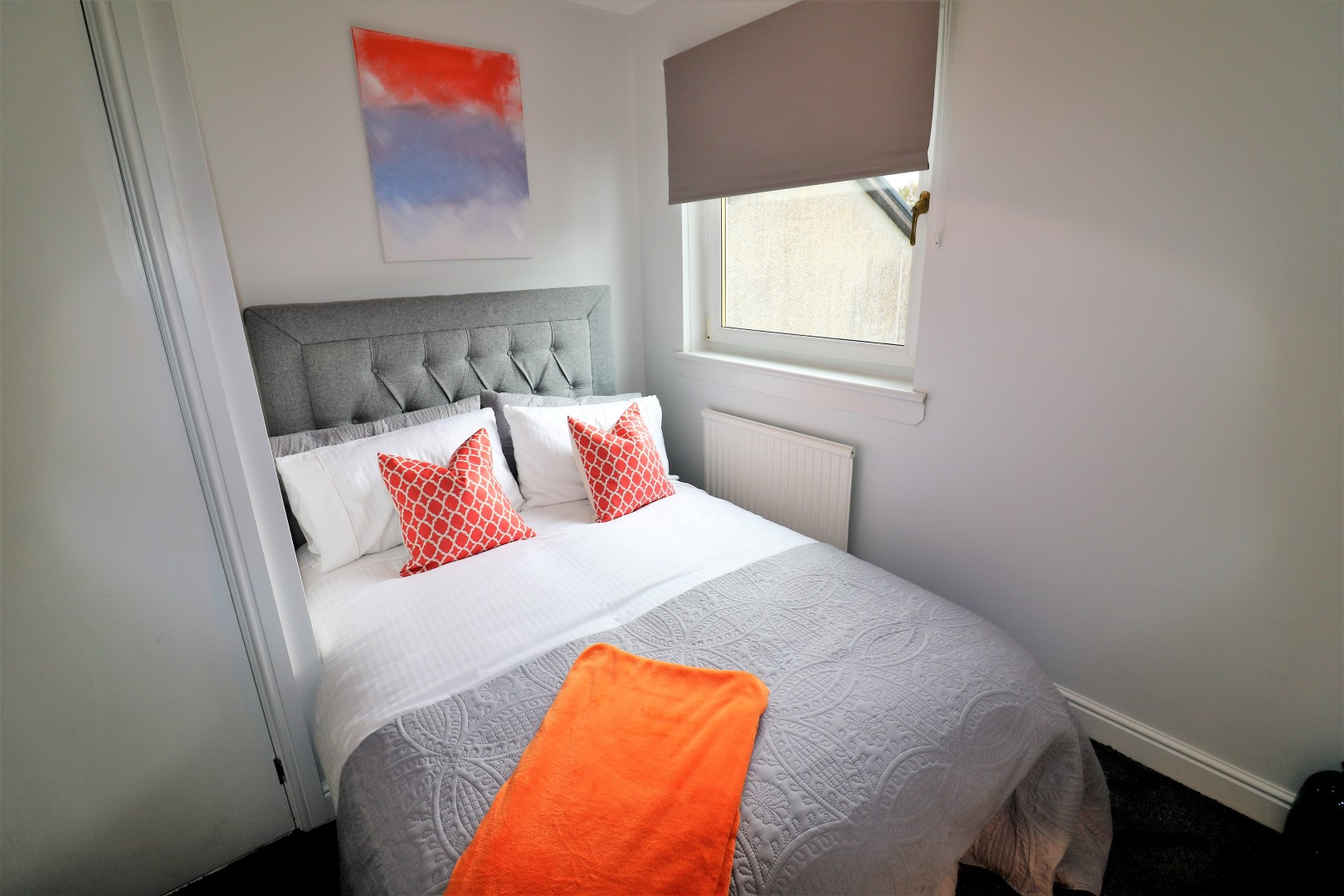 Bright bedroom at Brora House