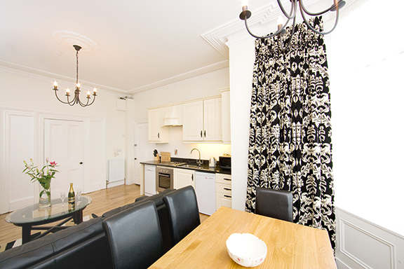 Dining table at Tyrconnell Road Apartments