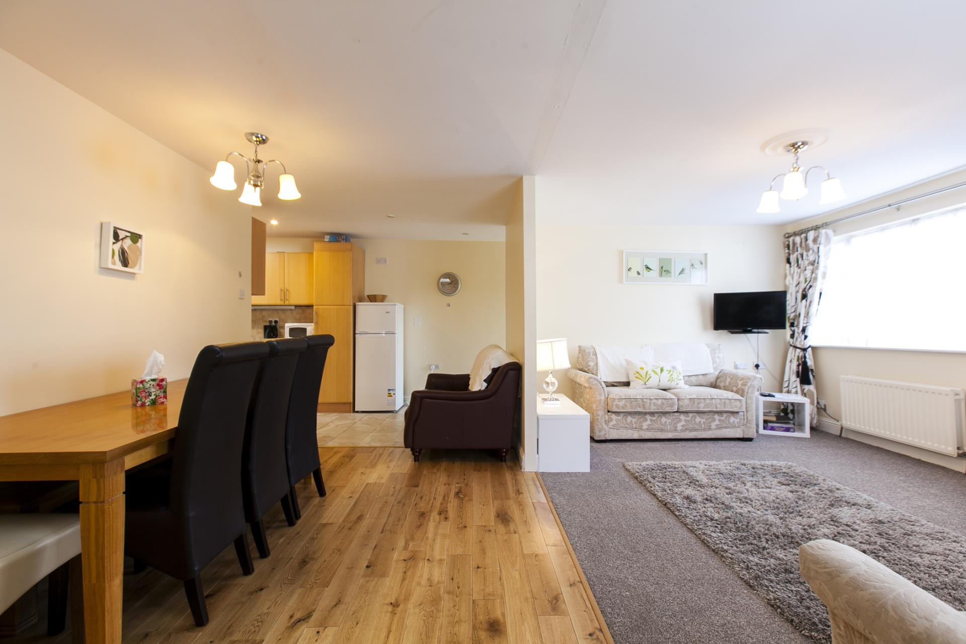 Open-plan living area at Tyrconnell Road Apartments