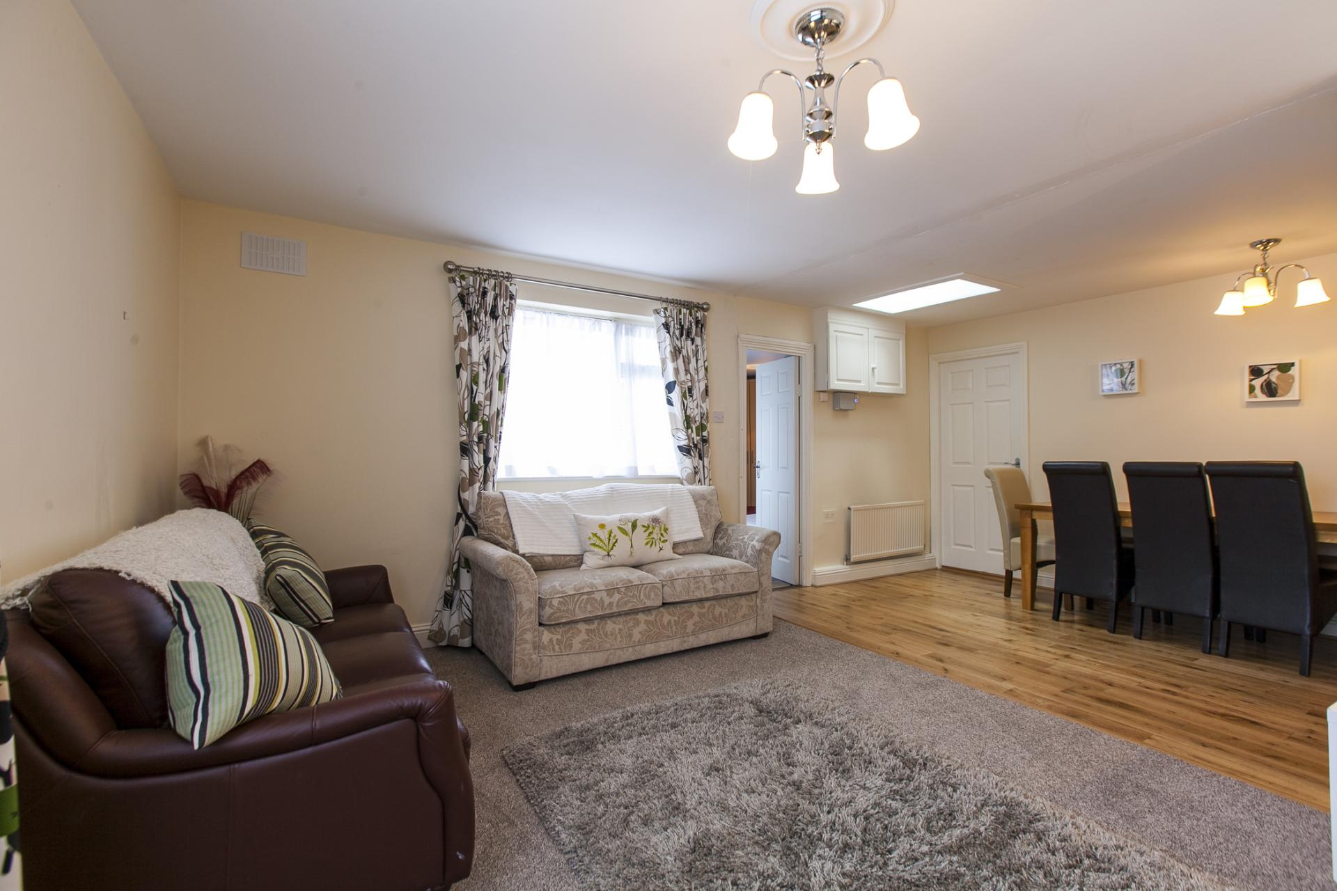 Comfortable living area at Tyrconnell Road Apartments