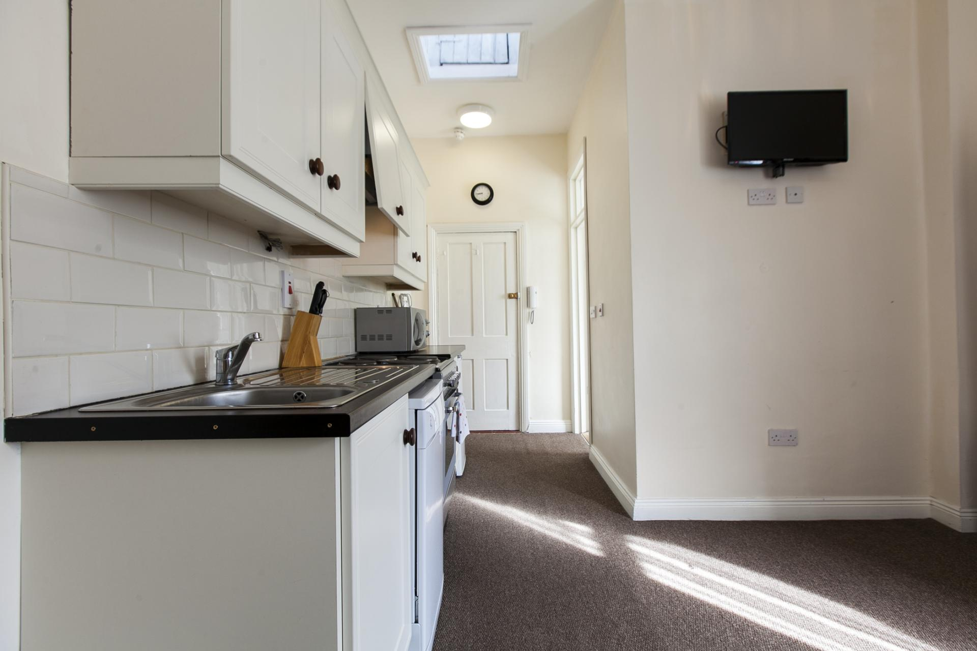 Kitchen area at Tyrconnell Road Apartments