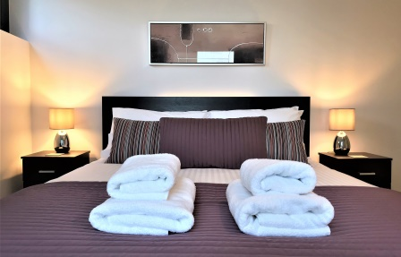 Bedroom at Meadowside Quay Apartment