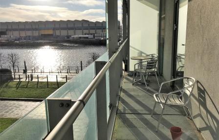 Balcony at Meadowside Quay Apartment