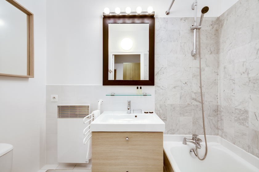 Bathroom at Rue Geoffroy L'Angevin Apartment
