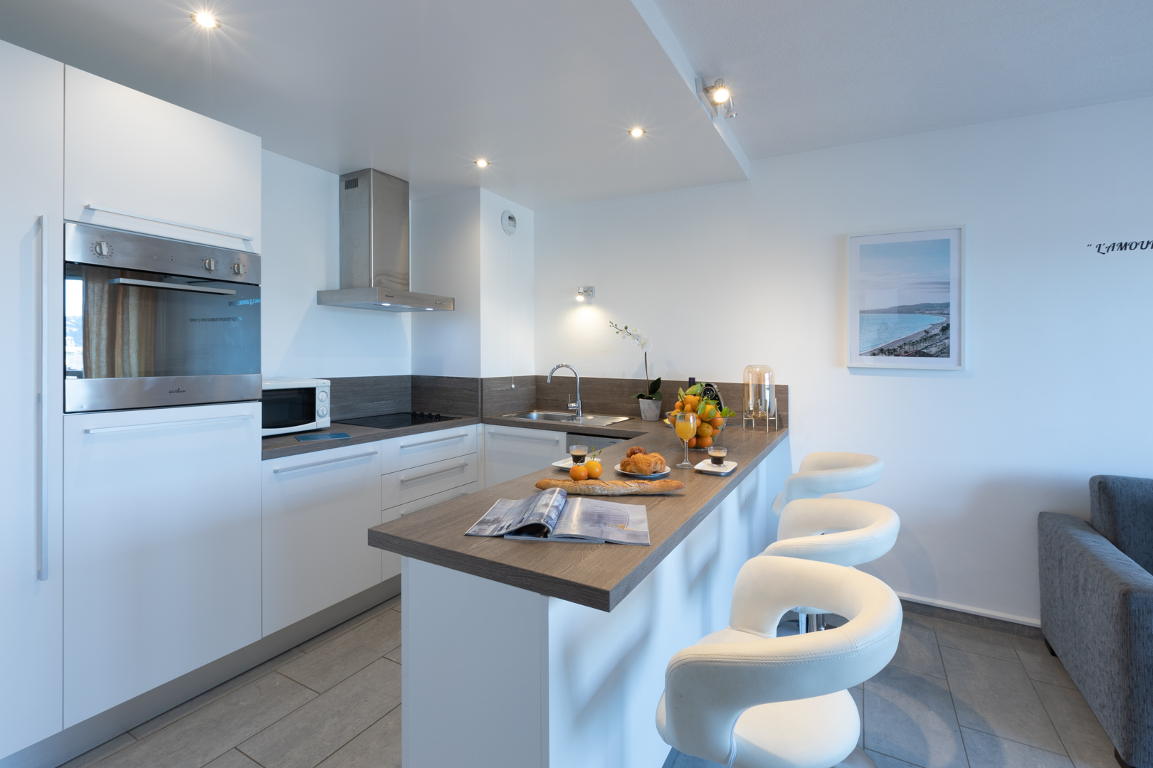 Kitchen at Sky View Terrace Apartment