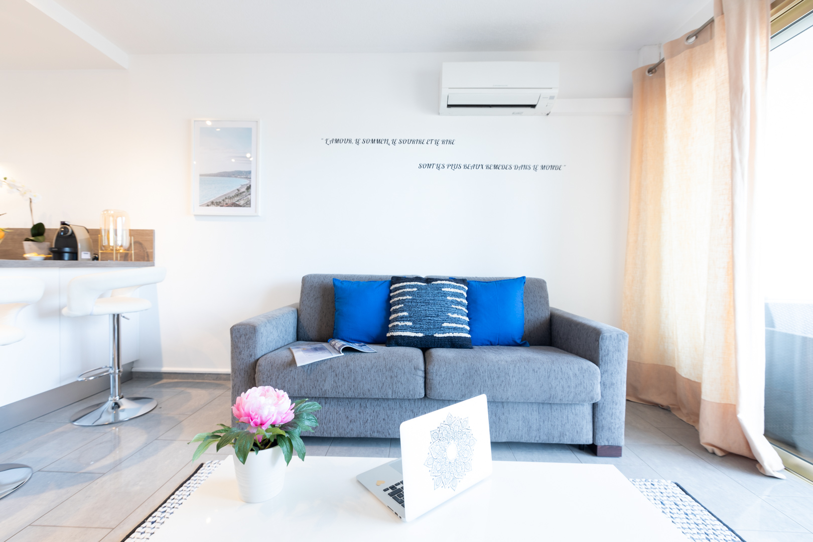 Sofa at Sky View Terrace Apartment