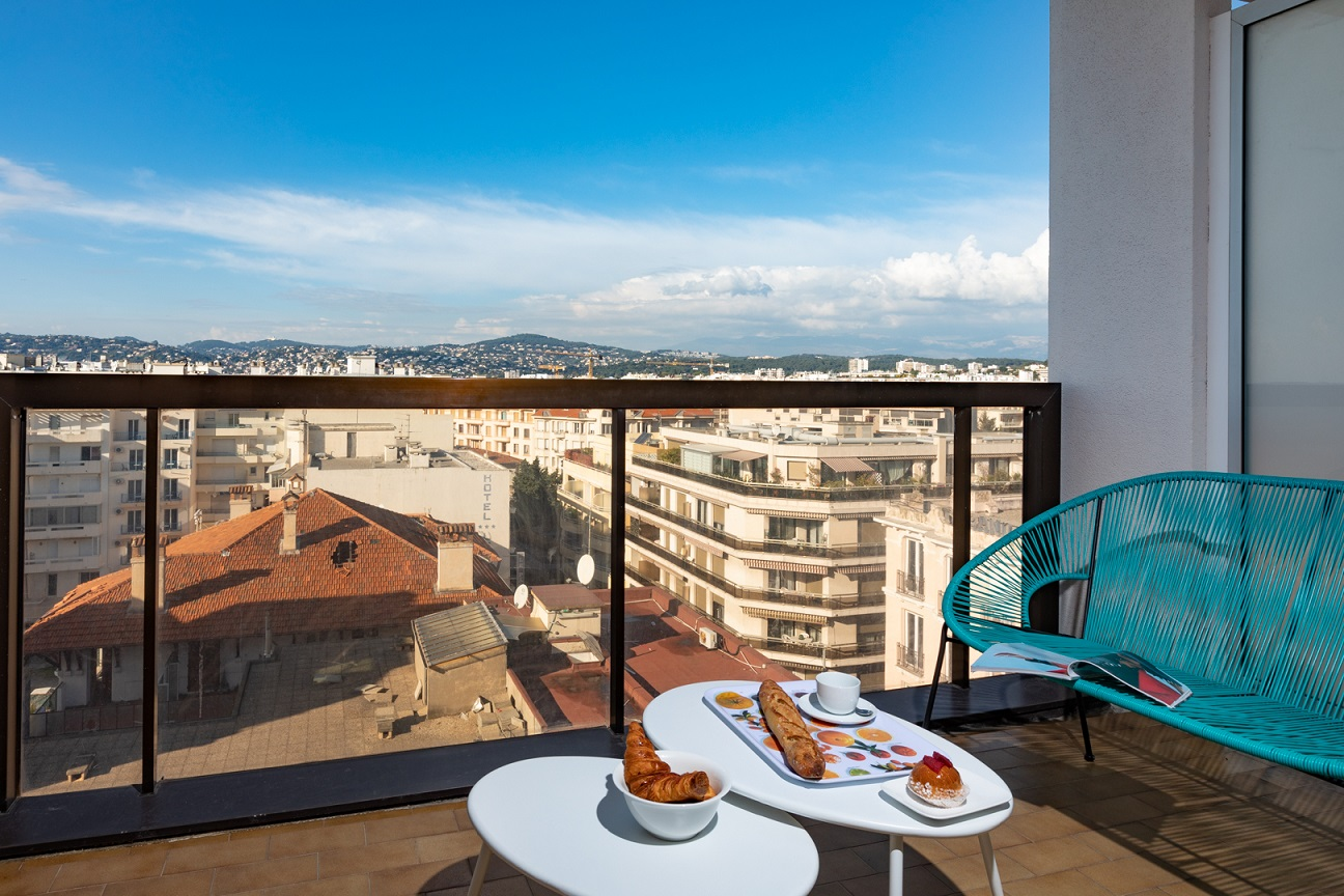 Balcony at Sky View Terrace Apartment