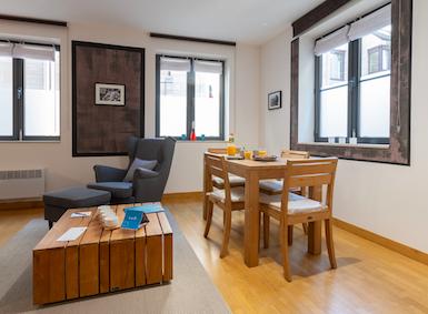 Living area at Sablons Apartment
