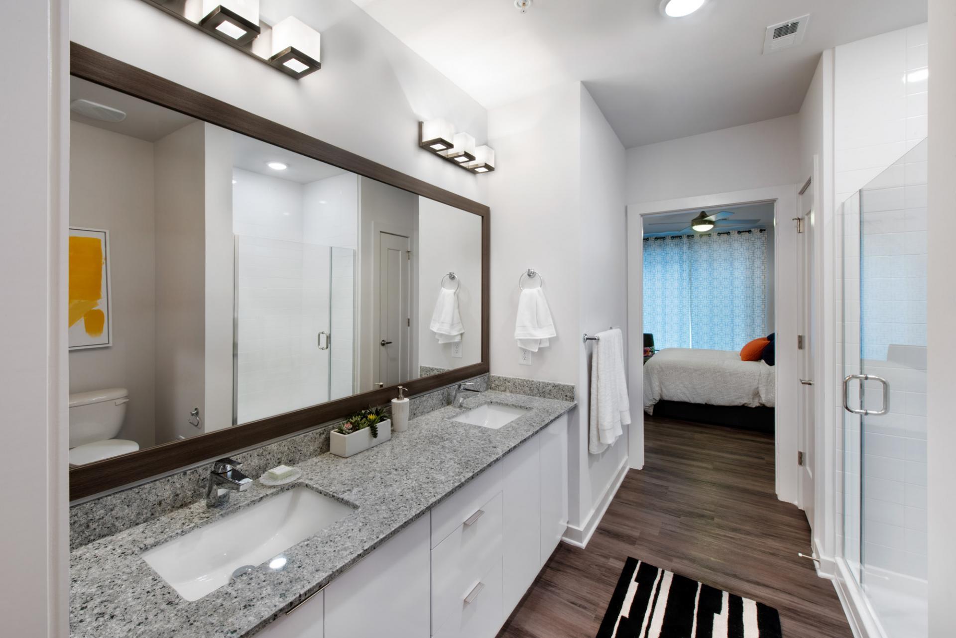 Bathroom at Spectrum on Spring Apartment